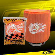 Water Guard Cold Air Intake Pre-Filter Cone Filter Cover Mustang Large Orange
