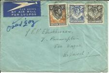 Northern Rhodesia SG#40,#34,#38 KASAMA(Zambia) 20/FEB/48 AIRMAIL to HOLLAND