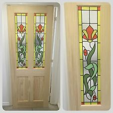 Stained Glass Internal Door (Clear Pine) Obscure Glass Ideal For Bathrooms