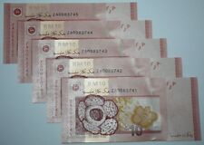 (PL) RM 10 ZA 0083741-45 UNC 2 ZERO LOW FANCY LUCKY & NICE ZETI REPLACEMENT NOTE