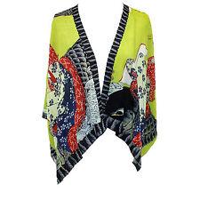 NEW NWT Cocoon House Geisha & Koi 100% Silk Kimono Blouse Large/XL (fits 1X, 2X)