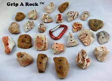 "35 Rock Climbing Hand Holds, Rock Wall Holds, Rock Climbing Holds ""REAL ROCK"""