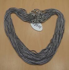 WHOLESALE 20PC 925 SILVER PLATED BLACK OXIDIZED CHAIN NECKLACE JEWELRY LOT