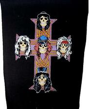 "Guns N 'ROSES schiena ricamate/Back Patch # 8 ""CROSS logo"" - 36x29cm VINTAGE 1987"