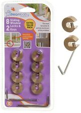 8 PACK DREAMBABY SLIDING WINDOW LOCKS + 2 KEYS FOR HORIZONTAL & VERTICAL WINDOWS