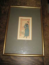 ART DECO PERIOD FRAMED PRINT OR DRAWING OF A  ELEGANT LADY ORIENTAL STYLE