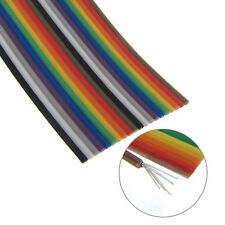 5' Long 28AWG Stranded Color Coded Flat Ribbon Cable - 20 Conductors