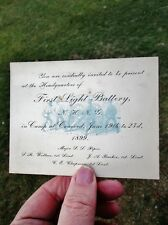 1899 Army First Light Battery New Hampshire National Guard NHNG Camp Concord NH