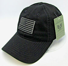 Operator Tactical American US Flag Cap USA Military Hat Adjustable OSFM Black