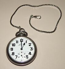 Hamilton Traffic Special 17J Stainless Steel Pocket Watch ~ Works Great ~