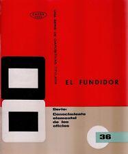 El fundidor. Conocimiento elemental de los oficios. Colección de 36 diapositivas
