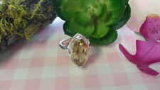 Beautiful Big Yellow Marquise CZ Heavy Ring 925 Sterling Silver *Size 7.25 *A926