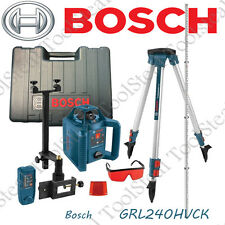 Bosch GRL240HVCK 800 ft Self-Leveling Rotary Laser Level Kit W/ FACTORY WARRANTY