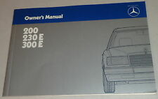 Betriebsanleitung / Owner's Manual Mercedes Benz W124 Stand 01/1985