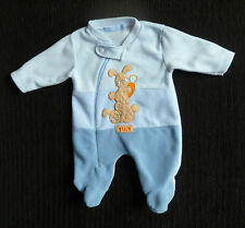 Baby clothes BOY 0-3m Baby C fun rabbits/carrot zip fleecy sleepsuit SEE SHOP!
