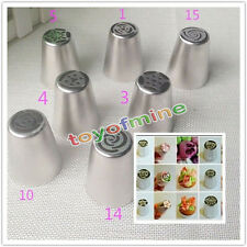 Set Of 7 Russian Tulip Icing Piping Nozzles ButtCake Decoration Tips DIY Tools