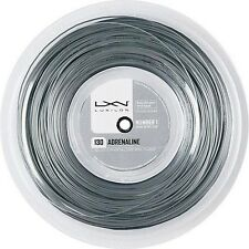 NEW LUXILON Adrenaline 130 Tennis String Reel, Platinum, 200m/16-Gauge