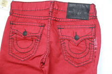 True Religion Men Red  Denim Jeans Ricky Super T  30 x 34