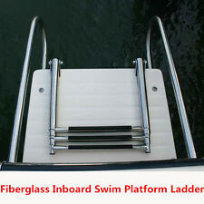 Fiberglass Boat Swim Platform Ladder Stainless 2 Rails 3 Step Telescoping Ladder