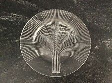 Vintage Signed Lalique France clear & frosted crystal wheat plate verneuil