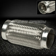 """3""""X8"""" STAINLESS STEEL DOUBLE BRAIDED FLEX PIPE EXHAUST CONNECTOR/ADAPTOR PIPING"""
