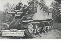 ME-031 - 105mm Gun on Medium Tank Chassis Lithograph WWII Era Army USA Vintage