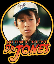 "80's Classic Indiana Jones & the Temple of Doom Short Round ""No Time"" custom tee"