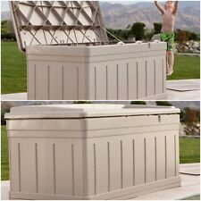 Deck Storage Box Bench Seat Patio 129 Gallon Outdoor Pool Large all weather XL