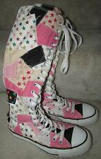 Converse All Star Chuck Taylor Knee High Patchwork Boot Sneakers Boys 4 Women 6