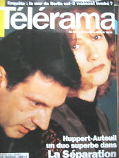 2339 ISABELLE HUPPERT AUTEUIL LED ZEPPELIN JIMMY PAGE ROBERT PLANT TELERAMA 1994