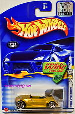 HOT WHEELS 2002 HYUNDAI SPYDER CONCEPT #049 GOLD FACTORY SEALED