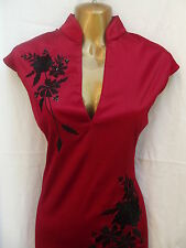 Oriental Chinese Red and Black STYLISH dress size 18 20