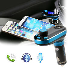 Dual USB MP3 Player Bluetooth FM Transmitter Car Kit Charger for iPhone Samsung
