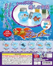 Yell Gashapon Stress-Relieving Toy Goldfish in Bottle 6 pcs Set