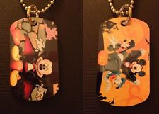 Mickey Mouse Halloween 2-Sided Color Photo Dog Tag Necklace / Keychain FREE SHIP
