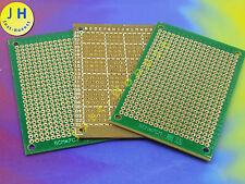 Stk. 3x LOCHRASTER PLATINE STRIP BOARD 50mmx70mm PCB SOLDER MASK #A725