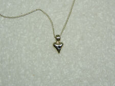 SUZANNE KALAN ALEXANDRITE IN STERLING SILVER HEART WITH 16'' FINE CHAIN N395-E