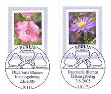 BRD 2005: Bechermalve und Herbstaster Nr 2462+2463 mit Berliner Stempeln 1A 1607