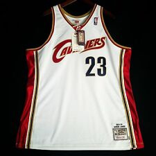 100% Authentic Lebron James Mitchell & Ness Cavs Cavaliers Home Jersey 52 2XL