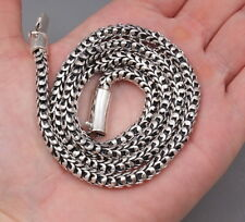 """87g 26"""" ARTISAN DRAGON SNAKE SCALE MENS NECKLACE CHAIN 925 STERLING SILVER"""