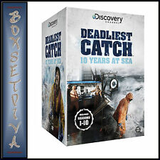 DEADLIEST CATCH -10 YEARS AT SEA COMPLETE SEASONS 1 -10 BRAND NEW DVD BOXSET ***