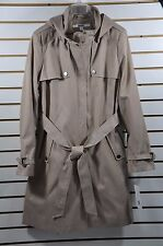 NWT Women's DKNY Zip-up Trench Coat W/ Detachable Hood. Sz.XL