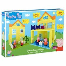 NEW Peppa Pig Deluxe Peppa's House Construction Set