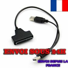 USB 2.0 to SATA Serial ATA 22P Adapter Cable Case 2.5 HDD SSD Laptop Hard Drive