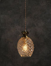Glass pineapple Antique Brass ceiling light fitting Pendant Chandelier