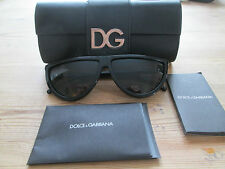 Dolce & Gabbana black frame semi circular sunglasses. DG 4133. With case.