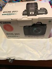 New  Canon EOS 80D Digital Camera with EF-S 18-135 IS USM Lens
