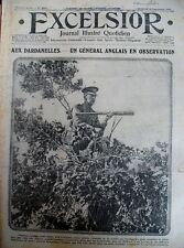 WW1 DARDANELLES Gal ANGLAIS PARALYSES PROTHESE FONCTIONNELLE EXCELSIOR 1/12/1915