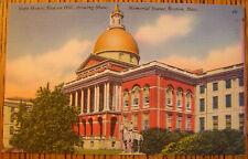 BOSTON, MASSACHUSETTS, STATE HOUSE, HOTEL STATLER, LOT OF 2 POSTCARDS, TICHNOR