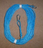 70FT OF NEW 8MM ROPE BLUE - ANCHOR BOAT MOORING WITH SNAP HOOK + d shackle j